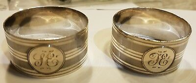 2 x Solid Silver Napkin rings + 1 x plated ring 46.7g