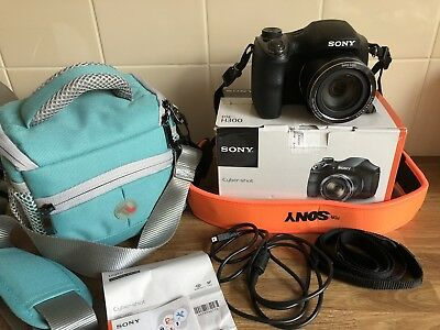 Sony Cyber-shot DSC-H300 20.1MP Digital Camera Hardly Used Inc Soft Case Bag