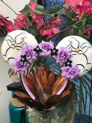 Mickey Mouse Disney Headband & Ears Little Mermaid Ursula Purple & Black Flowers