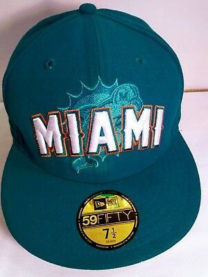 Miami Dolphins New Era 59 Fifty Official 2012 Nfl Draft Hat cap Size 7 1 96d02418d