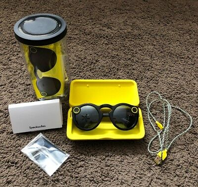 SPECTACLES SNAPCHAT COLOR BLACK NEW With Case And Box
