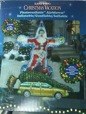 New 6' Chevy Chase Christmas Vacation airblown LED photorealistic inflatable