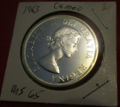 Canada 1963 Uncirculated Proof Like Cameo Silver Dollar.                  #MF-2