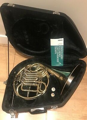 Yamaha 567 Double French Horn, Denis Wick Mouth Piece & Mute-Excellent Condition