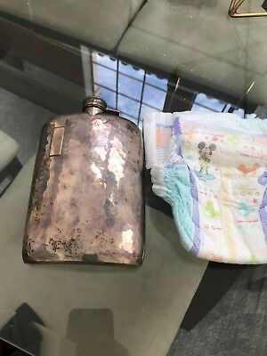 Vintage Amazing EAM Sterling Silver Flask