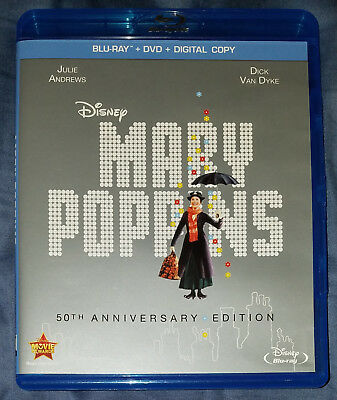 Mary Poppins Blu-ray DVD  2-Disc 50th Anniversary Edition Disney Julie Andrews