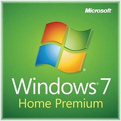 Windows 7 Home Premium sp1 32 64 Bit Original Genuine License Key