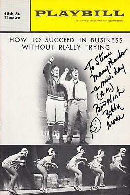 ROBERT MORSE Signed HOW TO SUCCEED... Playbill for his Tony Award winning role