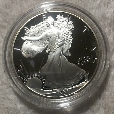 1990-S Proof American Silver Eagle 1$ - Original Mint Packaging!