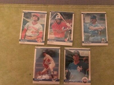 lot of 5- 1984 Fleer Baseball Cello Packs - Factory Sealed - Unopened 75 cards