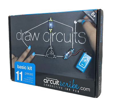 Circuit Scribe 11 pc. Basic Kit: Draw Circuits Instantly. Incl 6 Modules & 1 Pen