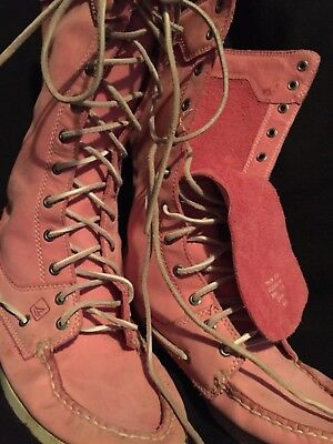 womens sperry  PINK high tops size 9 1/2