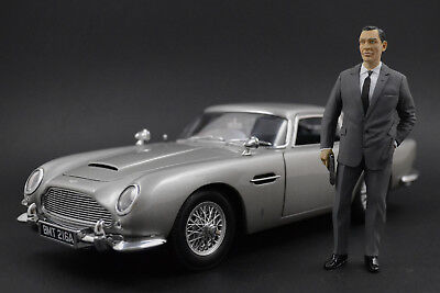 Sean Connery James Bond Figur für 1:18 AUTOart Aston Martin DB5 DBS Vanquish