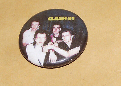 The Clash Punk Rock Badge Pin New Wave Old Band Joe Strummer Button Pinback