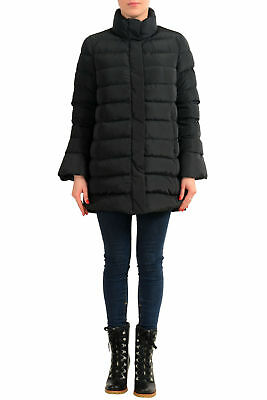 Peuterey Women's Black Down Parka Jacket Coat US L IT 44