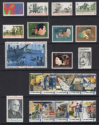 US 1973 NH COMPLETE Commemorative Year Set: 1475-1504 1507-08 (32)-Free USA Ship