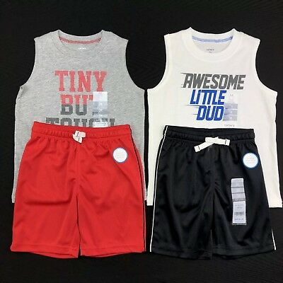 Carter's Boys Size 3T Sleeveless Shirts Shorts Two Piece Spring Summers Outfits
