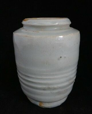 "Chinese Ming Dynasty Celedon Vase. 15th/16th c.  5"" tall, simple form, lt. Green"
