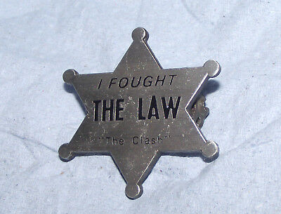 The Clash Punk Rock Sheriff Star Badge Pin New Wave Old Band Joe Strummer