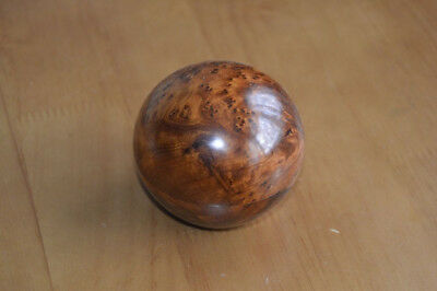 Vintage Antique Wooden Burr Walnut Orb Trinket Pot