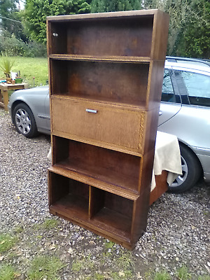 VINTAGE 1930's STACKING OAK BOOKCASE  BY  MINTY OF OXFORD