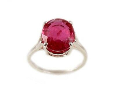 Red Sapphire Ring 5¼ct Antique 19thC Medieval Sorcery Psychic Anti-Black Magic