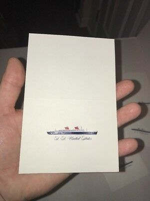 SALE LOT of 10 SS UNITED STATES LINES Compliment Card New Old Stock 1950s