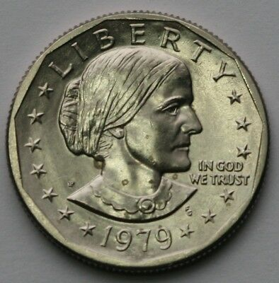 1979 P Susan B Anthony Dollar Far Date BU Condition US Coin