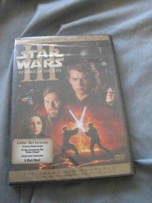 Star Wars Episode III Revenge of the Sith Sealed! New DVD 2-Disc Set Widescreen