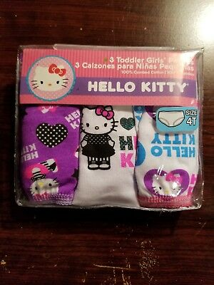 Nwt- Toddler Girl 3-Pack Hello Kitty Panties Size 4T