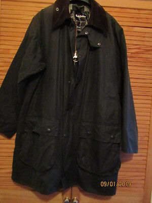 "Mens Barbour"" Border"" Waxed Coat/jacket In Excellent Condition.large Size.green."