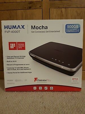 Used HUMAX FVP-4000T Mocha Freeview HD Play Recorder 500GB