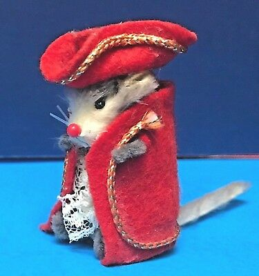 "Real ""Original Fur Animals"" REDCOAT MOUSE Lace Braid Military W.Germany"