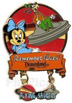 Disney Pin 47796 DLR Remember When 2006 Flying Saucers Minnie Goofy Surprise LE