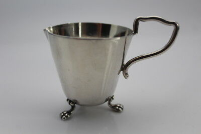 Silver plated Cream jug with lion's paws feet