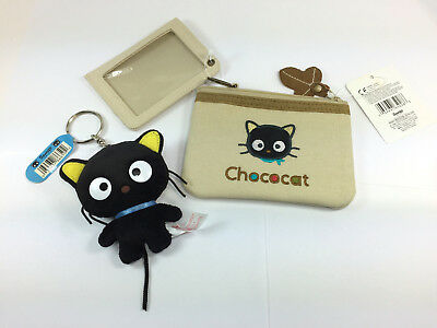 Lot of Sanrio Chococat Plush 1999 and pouch with wallet 2003 NWT