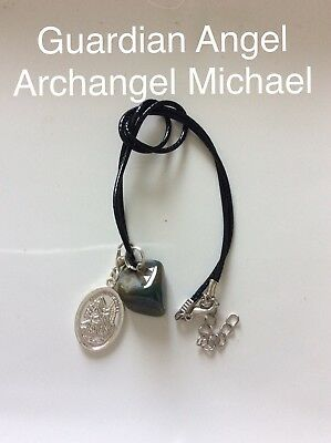 Code 263 Indian Agate Archangel Michael Guardian Angel infused Charged necklace