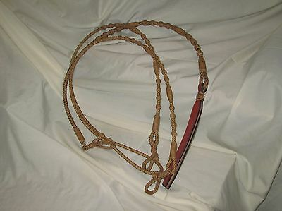 "Romal Reins - Oklahoma Style -  8 plt. Regular  48"" with rein connectors Rawhide"