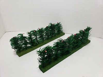 Marked Germany Goose Feather Tree 2 Piece Fence Wooden Base, Pips