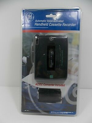 GE 3-5367 Handheld Cassette Voice Recorder. W/ Ac Adapter. Voice Activated NEW