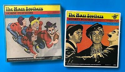 2 x VINTAGE THE MARX BROTHERS SUPER 8 MOVIES - 400 FT EA.