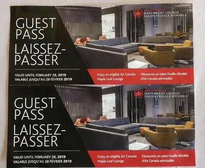 Air Canada Maple Leaf Lounge Pass x 2