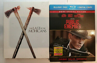 Michael Mann Last of the Mohicans New+Public Enemies Like-New Blu-ray+Slip Cover