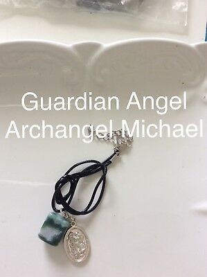 Code 268 Indian Agate Archangel Michael Guardian Angel infused Charged necklace