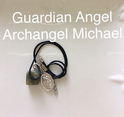 Code 269 Indian Agate Archangel Michael Guardian Angel infused Charged necklace