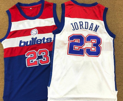 Swingman Jordan Washington Bullets #23 Basketball Jerseys Size S,M,L,XL,XXL