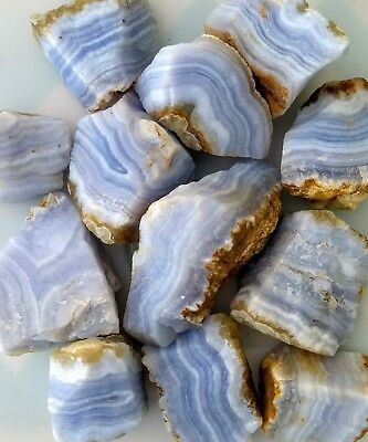 GemFarmer BLA: 1/4 LB Lot of Rough Blue Lace Agate From Namibia Throat Chakra