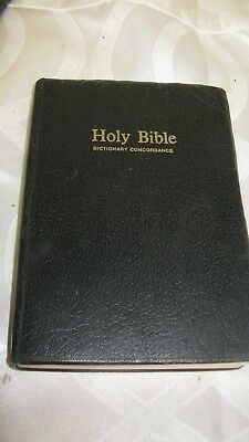 Holy Bible Dictionary Concordance KJV King James Version Red Letter 1970 Nelson