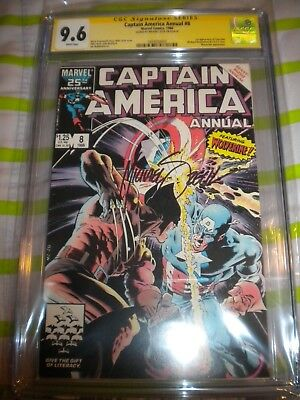 Captain America Annual #8 CGC 9.6  SS  signed by  Michael  Zeck