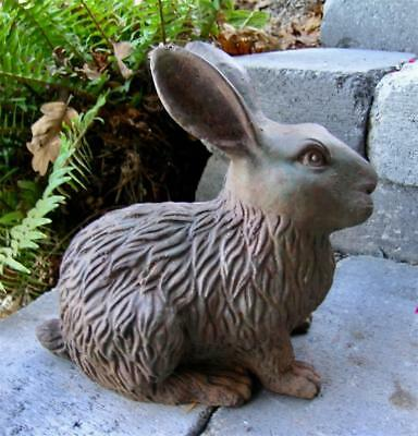 Vintage Antique Cast Iron Rabbit Garden Art Statue Bunny Lawn Art Home Patina